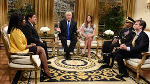 trump redesign oval office watch saturday night live highlight white house 2018 nbc com