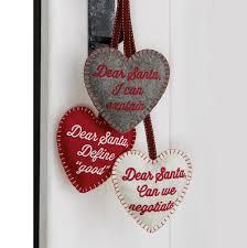 christmas tree hanging heart shaped hanging decoration door hanger