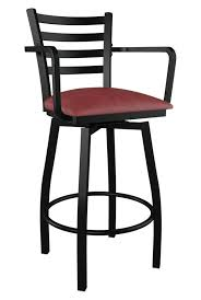 ladderback bar stools swivel ladder back metal bar stool with arms