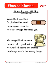 this reading comprehension worksheet wrestling and writing is