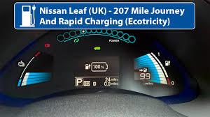 nissan leaf battery cost uk nissan leaf 24kw 207 mile journey u0026 rapid charging uk youtube
