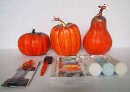 plastic pumpkins diy and colorful painted pumpkins