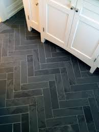 Tile Floor Bathroom Ideas Cutting Marble Tiles Into A Brick Pattern For A Herringbone Look