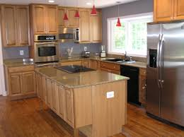 oak kitchen ideas hardwood kitchen cabinets best home interior and architecture