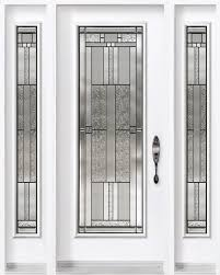 all glass front door single entry door with two sidelites from classic collection and