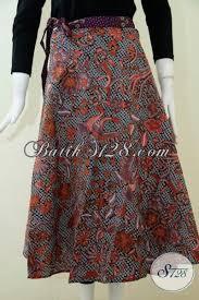 desain baju batik halus rok batik trendy motif modern berbahan halus proses printing bawhan