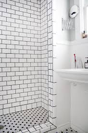 luxury white subway tile with black grout 93 for your home design