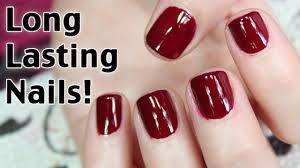 how to get long lasting nail polish youtube