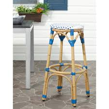 resin wicker bar stools safavieh ford indoor outdoor stacking french bistro bar stool
