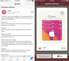 target app updated with support for apple pay reviews and more