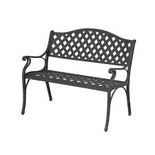 Veranda Metal Patio Loveseat Glider by Bench Hampton Bay Bench Not Cement Hampton Bay In L X W Garden