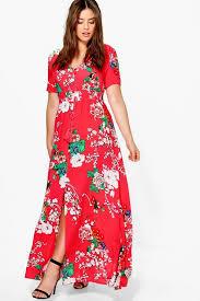 boohoo clothing plus isla floral print maxi dress boohoo