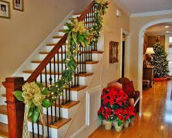 how to decorate stairs for christmas home design ideas