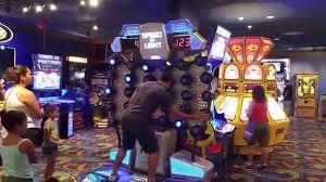 huge video game room las vegas excalibur youtube