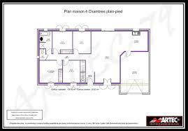 plan de maison 4 chambres plain pied plan maison 100m2 plein pied 4 chambres