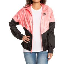 nike windbreaker w sportswear windrunner jacket bright melon black black