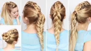 Sch Ste Kurzhaarfrisuren by High Ponytail Hairstyles With Braids For Medium Hair