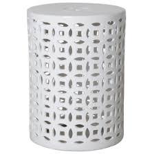 Ceramic Side Table White Garden Stool White Ceramic Stools White Porcelain Stool