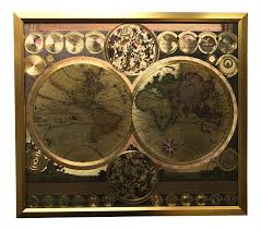Framed World Map by Framed Gold Foil World Map Print Chairish