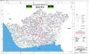 Lagos Africa Map Biafra Maps