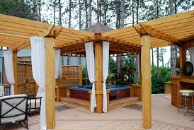 tub deck ideas deck farmhouse with backyard play backyard
