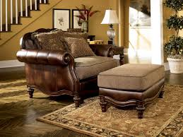 Leather And Upholstered Sofa Brown European Traditional Faux Leather Fabric Sofa Set Wood