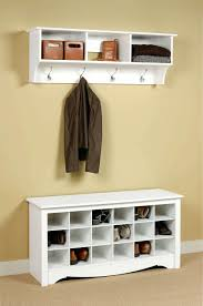 somers wall mounted coat rack with storage cubbieswall shelf plans