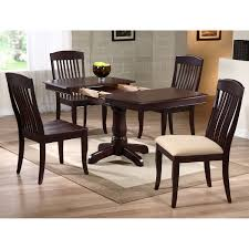karenina 5 piece extending dining set slat back chairs mocha