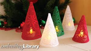making freestanding lace christmas trees youtube
