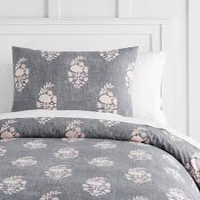 gray blush floral bedding