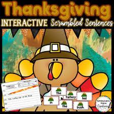 scrambled sentences interactive thanksgiving center tpt