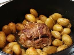 cuisiner pomme de terre grenaille rôti de veau en cocotte aux pommes de terre grenaille figue sardine