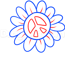 how to draw a peace flower step by step flowers pop culture