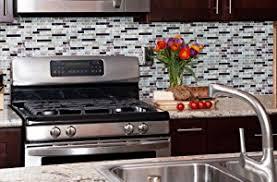Stick On Kitchen Backsplash by Amazon Com Crystiles Peel And Stick Self Adhesive Diy Backsplash