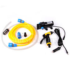 Jual Lu Dc 12 Volt mini and portable 80w 130psi high pressure car electric washer