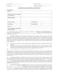 Contractor Letter Of Intent Template by Residential Roofing Contract Contract Date Project Manager By
