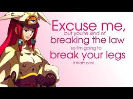 Why Law Is Blind Bbcf Live Stipulation Tsubaki Is Blind Challenge 3 Youtube