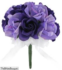 silk roses purple and lavender silk toss bouquet 1 dozen silk roses
