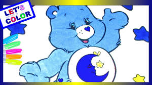 care bears bedtime bear coloring page speed coloring with markers