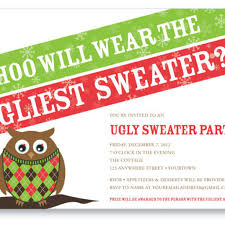 ugly christmas sweater party invitation wording u2013 frenchkitten net