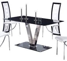 Glass Round Kitchen Table by Round Dining Table Black Glass Starrkingschool