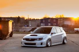 slammed subaru wrx who is running 9