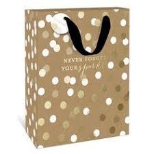 gold gift bags gold dots medium gift bag by graphique de a unique gift