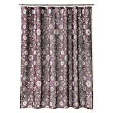 amazon com threshold medallion shower curtain purple home