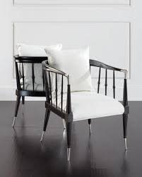 White Accent Chair Femi Bone Inlay Black And White Accent Chair