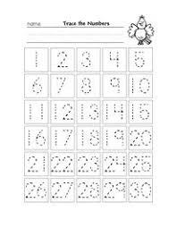 pre k number order worksheets easy kiddo shelter kids