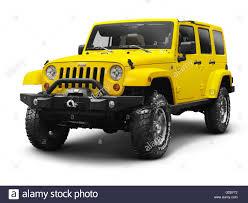 yellow jeep wrangler unlimited yellow 2011 jeep wrangler unlimited sahara 4x4 stock photo