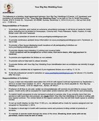 wedding vendor websites vendor contract template free premium templates