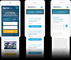 user interface design rightjobnow user interface design left right