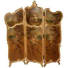 rarely classic golden folding room room divider with hinges and